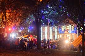 Twinkling Christmas Tree Lights Uk by Let There Be Light The Lantern Parade Evans Crittens Family
