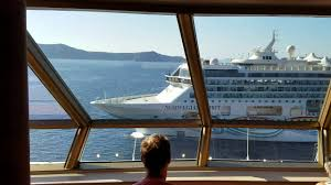 Cruise Ship Sinking Santorini by Almost A Collision By 2 Cruise Ships Norwegian Spirit And Ms