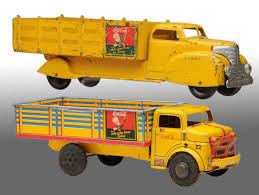 Lot Of 2: Coca-Cola Truck Toys.