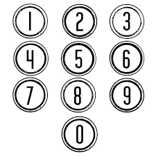 Numbers Clipart Black And White