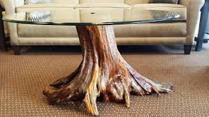 diy tree stump side table black walnut coffee instruc thippo