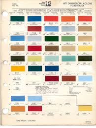 100 Ford Truck Colors 1977 Commercial Truck Paint ChartGee Something Other Than