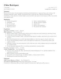 Resume Examples Executive Assistant Administrative Assistant Sample