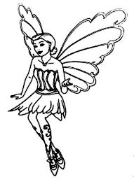 Barbie Mariposa Flying Colouring Page