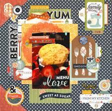 scrapbooking cuisine 95 best recipe scrapbook layouts images on recipe