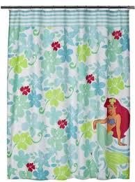 disney bathroom shower curtain 70x72 fabric ariel little mermaid