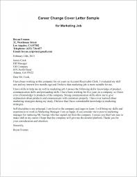 Changing Careers Cover Letter Career Change Sample With Examples For
