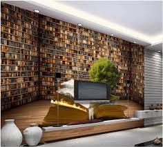 großhandel wandfotowand tapete braun bookself tapeten wand hintergrund bücherregal wohnzimmer tv sofa wallpaper20151688 4 85 auf de dhgate