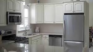 Lowes kitchen remodel LG Viatera quartz & Shenandoah cabinets