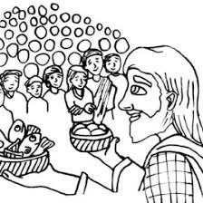 Scary Witch Coloring Page Jesus Feeds 5000 Clipart