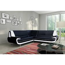 canapé d angle 6 places canapé sofa divan spacio canapé d angle 6 places simili noir