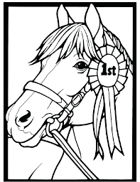 Horse Head Coloring Realistic Pages