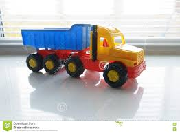 Toy Dump Truck Close Up Stock Image. Image Of Container - 82150647