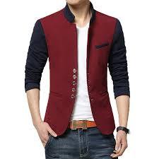 blazer men chinese collar suit mens summer blazer hommes casual