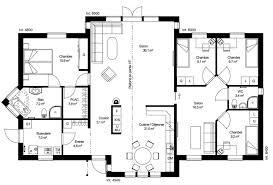 plan maison plain pied 6 chambres plan rdc maison ossature bois suédoise basse consommation