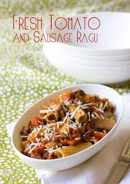 Homemade Pasta Sauce Ragu Recipe with Tomato and Sausage