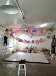 Kudos To Her Assistant Carla Who Figured Out The Logistics Of How Install An Epic Balloon Ceiling Check Full Tutorial Here
