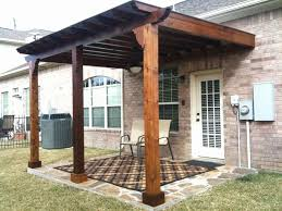 Inspiring Wood Patio Cover Designs with Wall Mounted Amazing