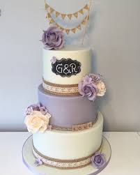 Wedding Cake Purple Twist On The Rustic