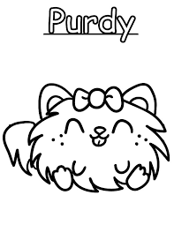 Moshi Monster Purdy Coloring Pages