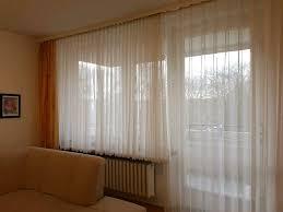 gardinen für balkontür und blumenfenster