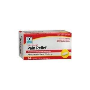 Quality Choice Extra Strength Pain Relief Acetaminophen 500mg 24 Each