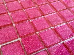 glitter pink glass mosaic tiles from grand taps and tiles