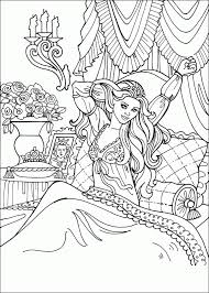 Barbie Coloring Pages For Kids Free Printable Romantic Princess