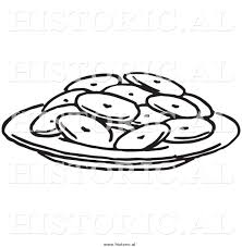 Historical Clipart of a Plate