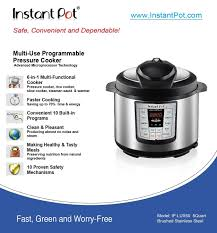 Bed Bath Beyond Pressure Cooker by Amazon Com Instant Pot Ip Lux50 V2 6 In 1 Programmable Pressure