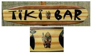 Decorative Surfboard Wall Art by Tiki Bar Decorative Surfboard Wall Art Sign