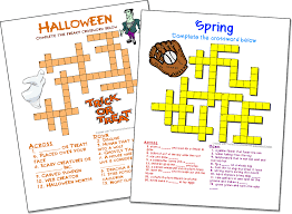 Halloween Brain Teasers Worksheets by Crossword Puzzle Maker Highly Customizable Free With No