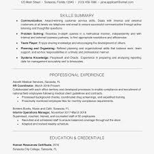 Resume Example Key Skills Section Management Business Examples Healthcare Full Size