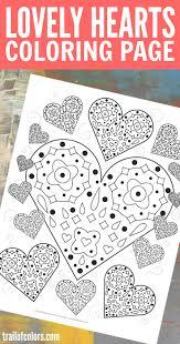 Mandala Coloring Page Lovely Hearts Free Printable