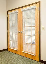 French Door Blinds Faux Wood Blinds For French Doors Wooden