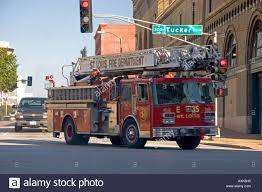 St Louis Fire Department Ladder Truck Fire Engine Missouri Stock ...