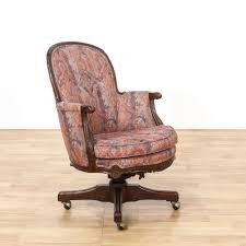 Desk Chair With Arms And Wheels by Bedroom Classic Vintage Natural Old Wooden Desk Chair Walnut Wood