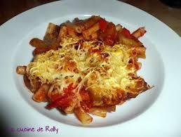 recette de gratin de pâtes au ketchup et légumes