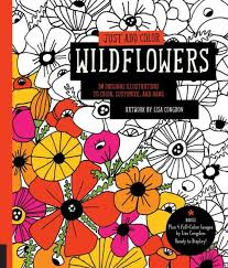 From Barnes Noble Just Add Color Wildflowers 30 Original Illustrations To Customize And Hang