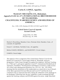 Carlos E. Lopez V. McLean Trucking Co., Appeal Of Local 677 ...