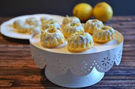 mini kuchen mit zitrone und mohn