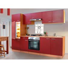 respekta küchenzeile ohne e geräte lbkb270br 270 cm rot buche nachbildung