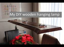 A Wooden LED Hanging Lamp
