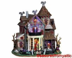 Lemax Halloween Village Displays by 56 Best Spooky Town Images On Pinterest Book Jacket Boxes And