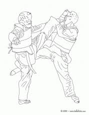 MARTIAL ARTS For Kids Coloring Pages