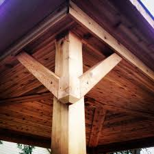 tongue and groove wood roof decking covered porch gusset design pergola tongue and groove cedar