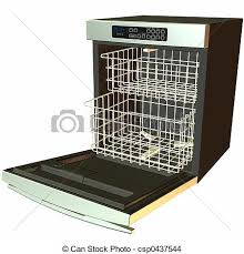 3d Dishwasher Open Render