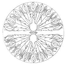 Jerry March Mandala Awesome Peacock Coloring Pages PagesFull Size