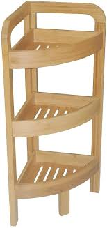 etagere eckregal bambus bad regal holz 3 stufen de