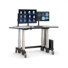 Kangaroo Standing Desk Dual Monitor by Dual Surface Computer Standing Desk Afcindustries Intended For